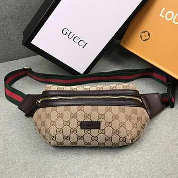 Gucci Women Fashion Leather Waist Bag Satchel Crossbody Shoulder Bag