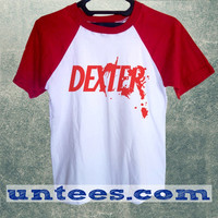 Dexter Basic Baseball Tee Red Short Sleeve Cotton Raglan T-shirt