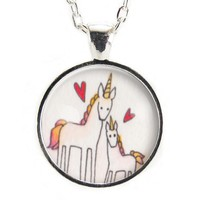 Mommy & Me Unicorn Necklace