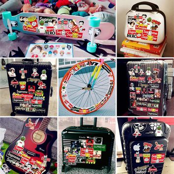 Outdoor Sports 52pcs Fashion Luggage Doodle Motor Bike Skateboard Bomb Graffiti Car Decal Toy Sticker Hellaflush Bicycle Sticker