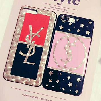 YSL Fashion iPhone Phone Cover Case For iphone 6 6s 6plus 6s-plus 7 7plus hard shell G-AGG-CZDL