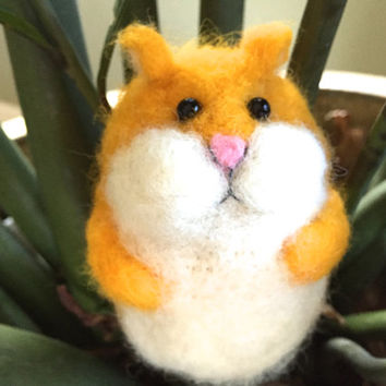 Hamster needle felted hamster toy cute handmade gift gerbil mouse rodent felted hamster guinea pig needle  felting animal funny mouse wool