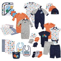 Gerber Newborn Baby Boy 33-Piece Perfect Shower Gift Layette Mega Set 0-3M - Walmart.com