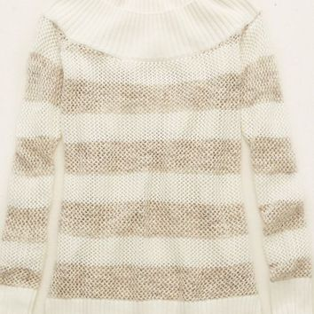 Aerie Off-The-Shoulder Sweater, Royal Navy | Aerie for American Eagle