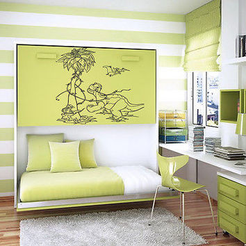 DINOSAURS BABY ROOM NURSERY  WALL VINYL STICKER ART MURAL B421