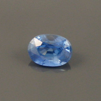 Sapphire: 1.24ct Blue Oval Shape Gemstone, Natural Hand Made Faceted Gem, Loose Precious Corundum Mineral, OOAK Crystal Jewelry Supply 20268