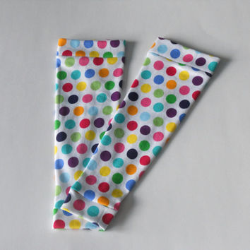 Polka Dot Baby Leg Warmers Girl or Boy, Infant Leg Warmers, Newborn Leg Warmers, Toddler Leg Warmers, Brown Baby Leggings, Boot Socks