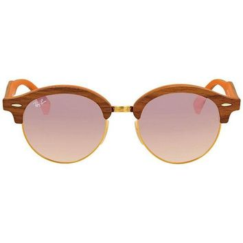 Kalete Ray Ban Clubround Copper Gradient Flash Round Sunglasses RB4246M 12187O 51