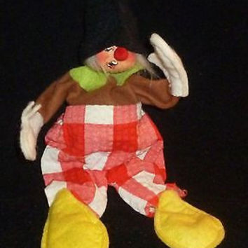 Annalee Clown In Red Checker Outfit Figurine