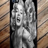 Iphone case Marilyn Monroe Day of the Dead Iphone 4 case cool awesome Iphone 4s case