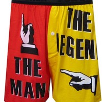 The Man The Legend Red/Yellow Boxer Shorts for men