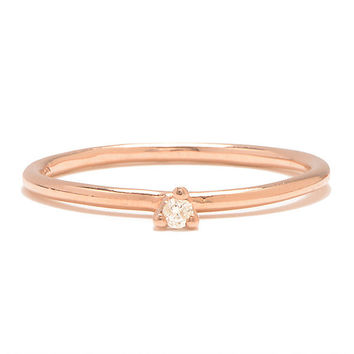 Taylor - Rose Gold with White Diamond