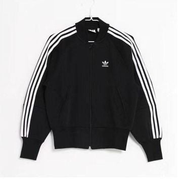 PEAPOK3 Adidas Women's 3-Stripes Winter Track Jacket - Black