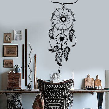 Vinyl Wall Decal Dream Catcher Bedroom Art Decor Dreamcatcher Stickers (ig3583)
