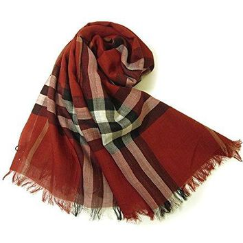 Burberry Lightweight Check Wool and Silk Scarf - Parade Check