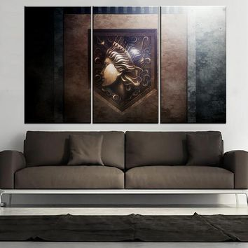 Cool Attack on Titan  Anime Painting On Canvas Printed One Set Modular Art 3 Panel  No  Picture Home Decor Wall Artwork AT_90_11