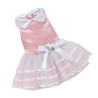 2015 Pet Dog Puppy Tutu Princess Dress Stripe Bow Lace Skirt Clothes Pet Apparel = 1946909252
