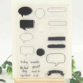 DIY Dialog Labels Transparent Clear Silicone Rubber Stamp for DIY scrapbooking/photo album Decorative diary necessities