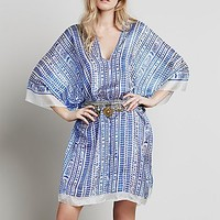 Lotta Stensson for Free People Womens Ikat Poncho