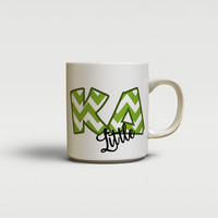 KAPPA DELTA - CUTE CHEVRON LETTERS - KD SORORITY BIG AND LITTLE MUG