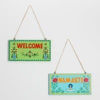 Namaste and Welcome Signs Set of 2