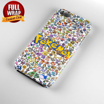All Pokemon Considered Full Wrap Phone Case For iPhone, iPod, Samsung, Sony, HTC, Nexus, LG, and Blackberry