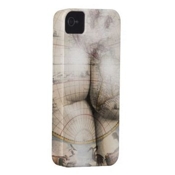Funny map tattoo art iphone 4 cases from Zazzle.com