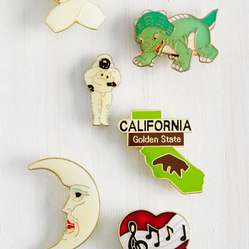 Melange and Short of It Enamel Pin Set | Mod Retro Vintage Pins | ModCloth.com
