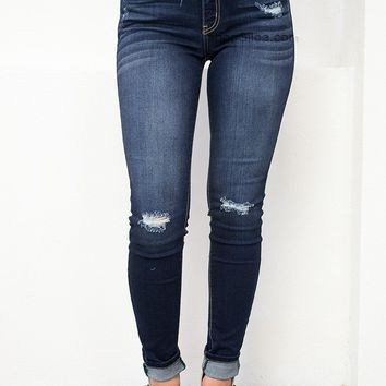 Los Angeles Dark Skinny Denim
