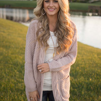 Back In Your Heart Cardigan - Twig Pink