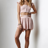 Somedays Lovin Sun and Sand Frayed Woven Shorts at PacSun.com