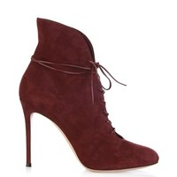 Jane lace-up suede ankle boots
