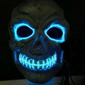 CREY6F Novelties LED Mask Skull Skeleton Fancy Scary Halloween Costume Neon Rave 2016