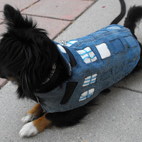Doctor Who Tardis Jacket for your Dog and Best Friend - Made to Order