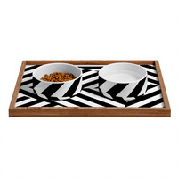 Three Of The Possessed Dazzle Uptown Pet Bowl and Tray
