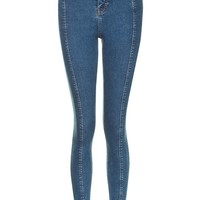 MOTO Blue Split Hem Jamie Jeans - New In