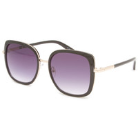 Full Tilt Large Square Sunglasses Black One Size For Women 23827710001