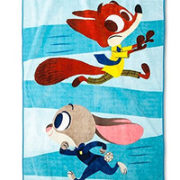 "Disney Zootopia Large Plush Blanket 62"" x 90"""