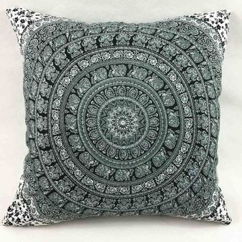 Colorful Print Pillow Case Sofa Waist Throw Cushion Two-Side Cover Home Decor