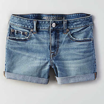 AEO Boy Midi Short, Medium Wash