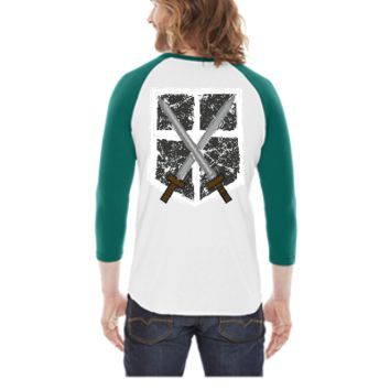 Attack On Titan -  3/4 Sleeve Raglan Shirt