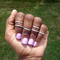 Set of six midi rings - Stackable rings - gold midi rings - silver midi rings - midirings  - above the knuckle rings