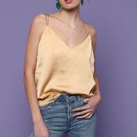 See U Soon Chain Strap Cami Top - Beige