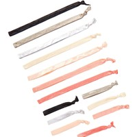 FINEST ACCESSORIES   Skinny Ribbon Head Wrap & Pony Set - Pack of 7   Nordstrom Rack