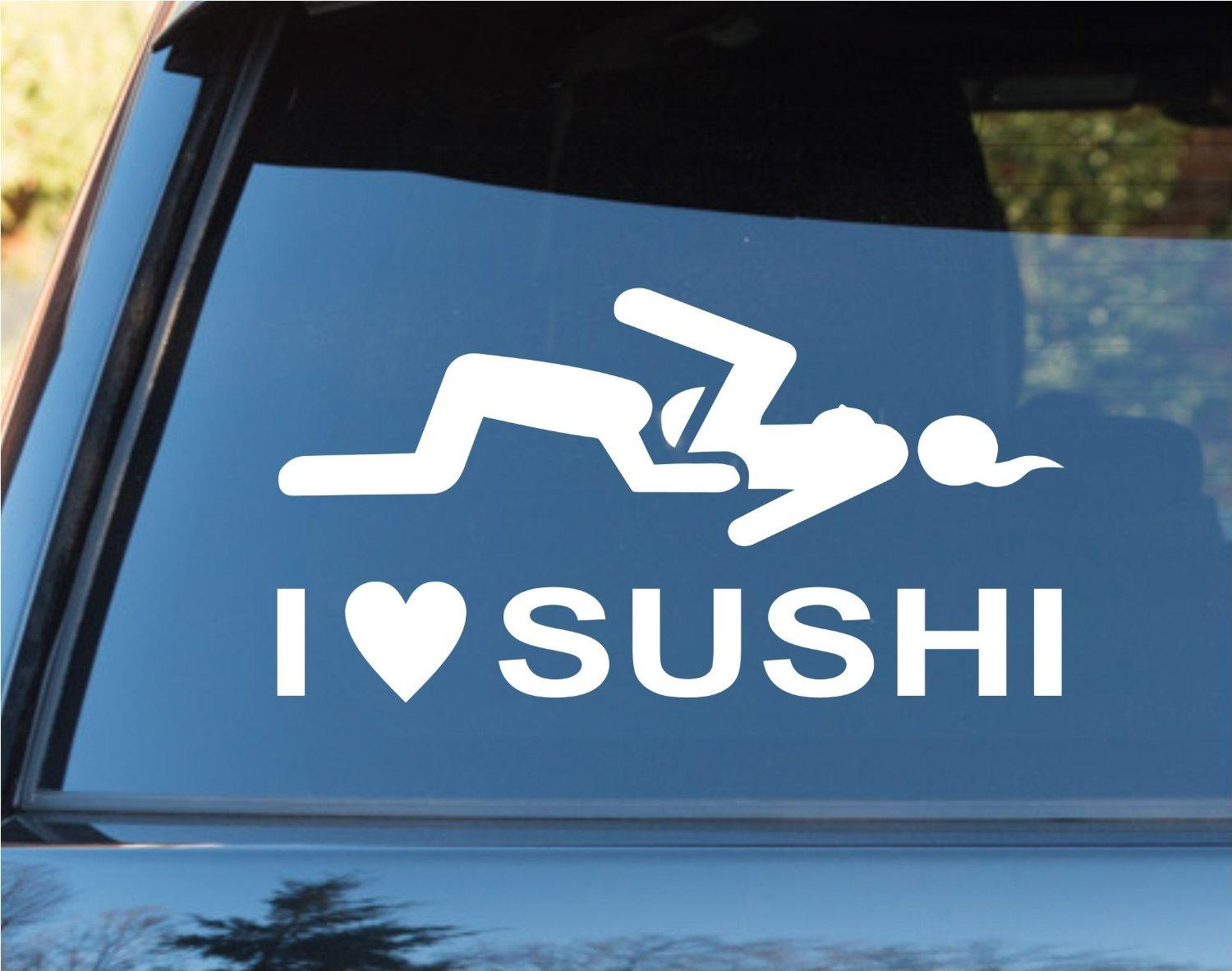 I love sushi funny car window windshield from amazon my