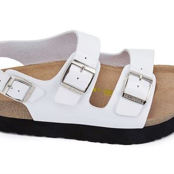 Beauty Ticks Birkenstock Arizona Platform Birko-flor Patent Sandals For Women & Men Fl