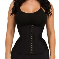Luxx Curves Waist Trainer Corset For Weight Loss Latex Shaper - Postpartum Women (Size S Pink)