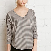 Striped Dolphin Hem Top
