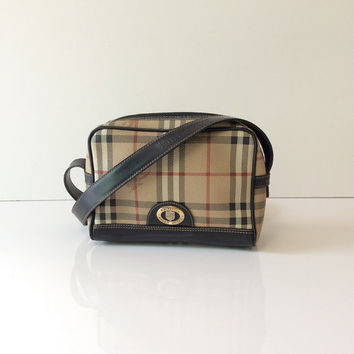 Vintage Burberrys Plaid Cross Body Bag