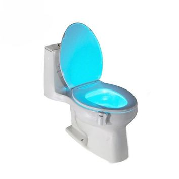 GT-lite Colorful LED Night Light Motion Sensor Automatic Toilet Hanging Light Bowl with Color Setting Battery-Operated GTTL101